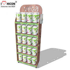 China Point of Purchase Wooden Display Racks Free Standing For Nutritional Shake Chocolate supplier