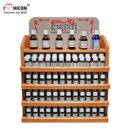 China Optimise Sales Wooden Display Stands Body Oil Essential Oil Display Rack supplier