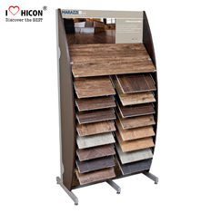 China Decoration Tile Display Racks Floor Show Tile Stand Wooden Floor Tile Merchandising supplier
