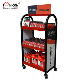 China Create More Value Floor Metal Display Racks Lubricating Motor Oil Display Shelf supplier