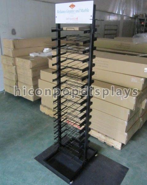 Flooring Stone Tile Display Racks / Black Store Display Racks