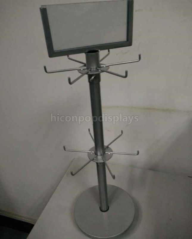 China Jewelry Countertop Spinner Display Racks Rotating With Hooks Supplier