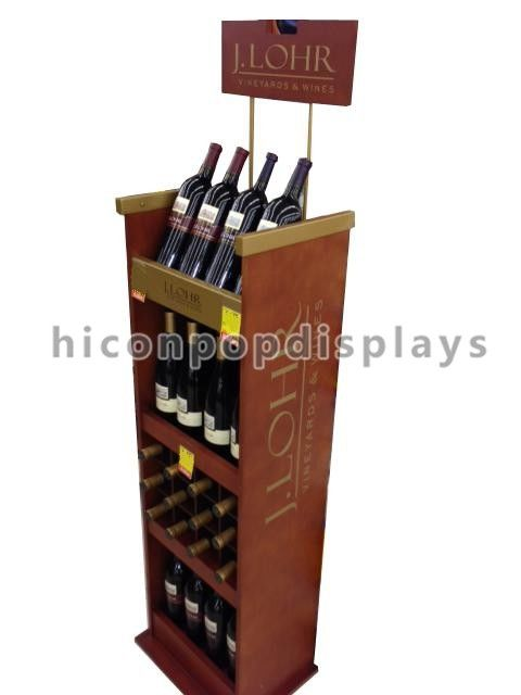 Merchandising Display Stands Retail Wood Wine Display Stand Merchandising Displays Fixtures 16