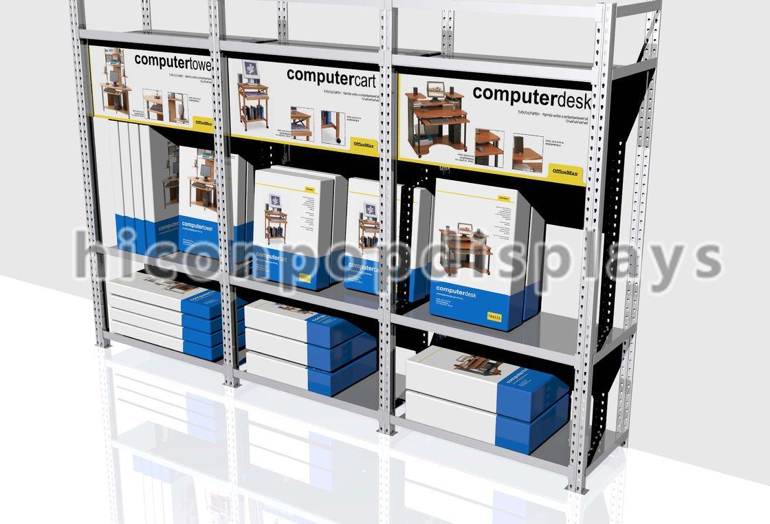 Heavy Duty Retail Gondola Shelving Units Flooring For