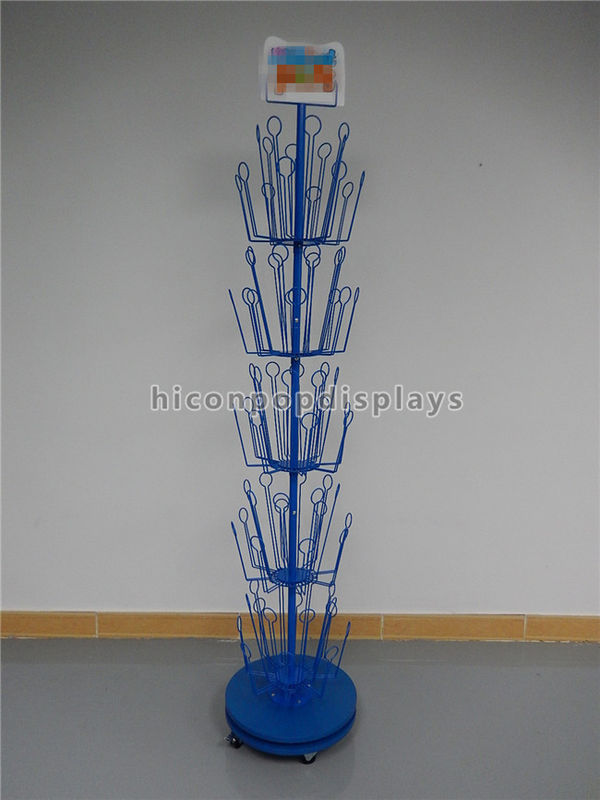 Visual Merchandise Display Blue Metal Rotating Freestanding Puppet Classy Puppet Display Stand