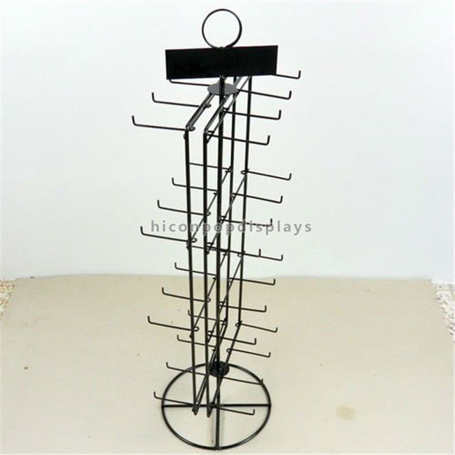 China Double Sided Countertop Spinner Display Rack For Hanging Items Merchandising Supplier