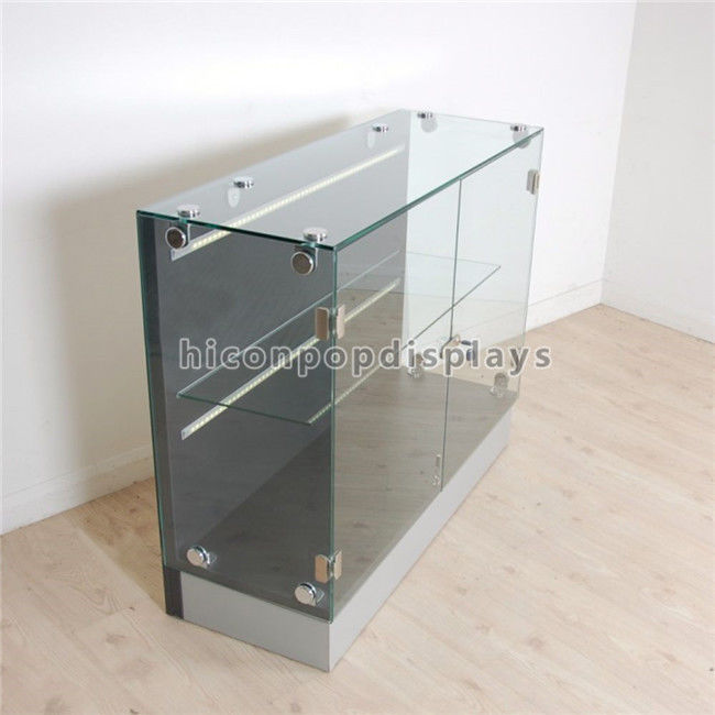 Flooring lighting glass display cabinet custom retail store gondola display units - Custom display cabinets ...