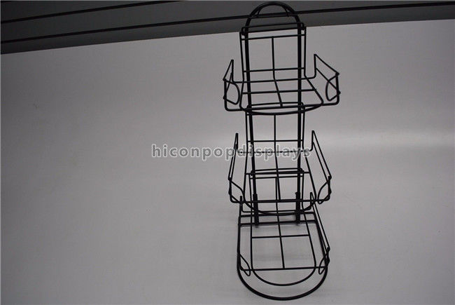 3 Tier Detachable Table Top Metal Display Racks For Sports Products Hat Cap  Retail