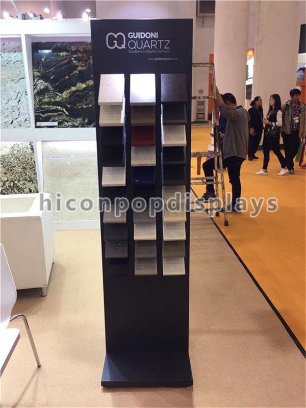 Exhibition Display Racks : Row metal stone sample display racks for tile trade show