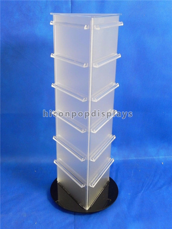 19 Tall Countertop Spinner Rack Display Stand Custom Acrylic Triangular