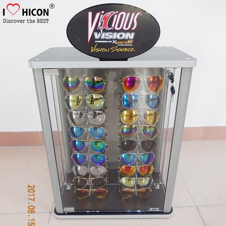 Countertop Eyeglasses Retail Acrylic Display Case Custom