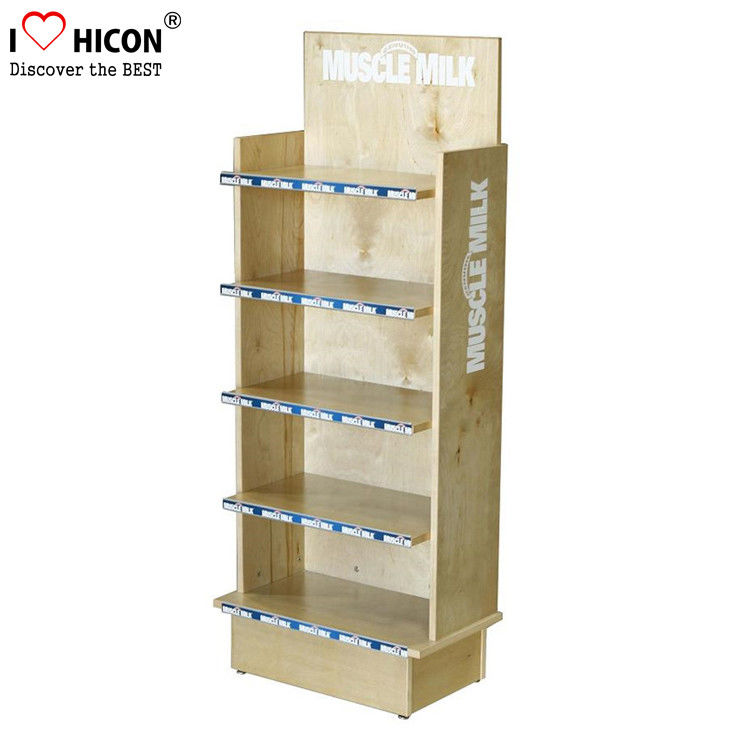 Retail Store Flooring Wooden Custom Product Display Stands For Food Amazing Product Displays Stands