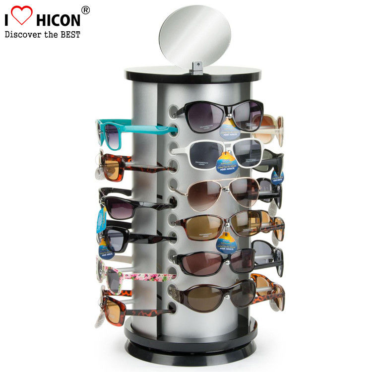 963f31c8b87 China Counter Top Sunglasses Display Case Round Shape Metal Eyeglass  Display Rods supplier