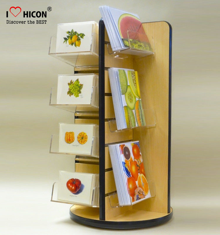 china grab attention slatwall display stands pop greeting card display shelf wholesale supplier - Greeting Card Display Rack