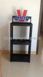 Waterproof Wine Display Stand Free Standing Wine Display Rack With Printed Logo
