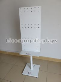 Jewelry Revolving Display Stand With Hooks , Peg Hook Display Rack