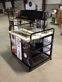 Movable Retail Single Sided Gondola Shelving For Display Coffee Maker
