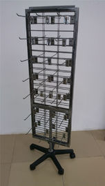 Metal Wire Grid Display Racks , Flooring Double Sided Display Stand Shelving