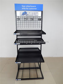 Freestanding Cups / Mugs Metal Display Racks Double Sided Multi - Layer For Shops