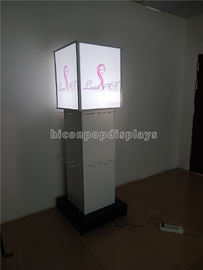 4 - Way Retail Accessories Display Lighting Hair Extension Display Stand Freestanding