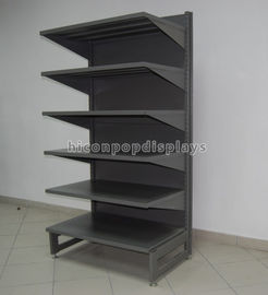 Metal Retail Gondola Shelving Freestanding Department Store Display Racks 6-Layer