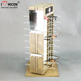 Custom 2-Way Sunglasses Display Case , Wooden Sunglasses Display For Retail Shop