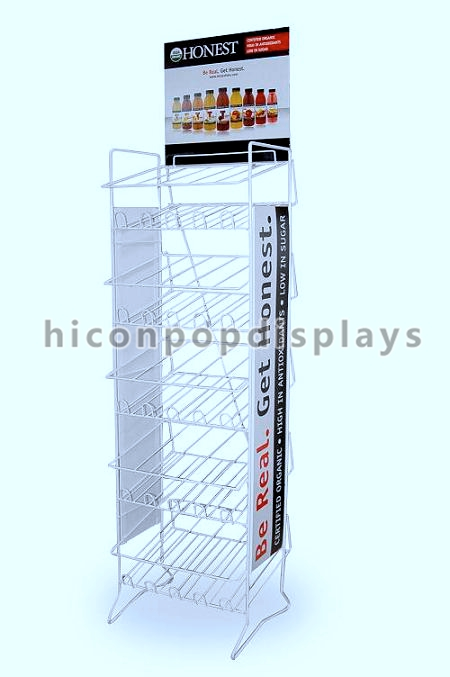 Painted Food Visual Merchandise Display Stands For Supermarkets