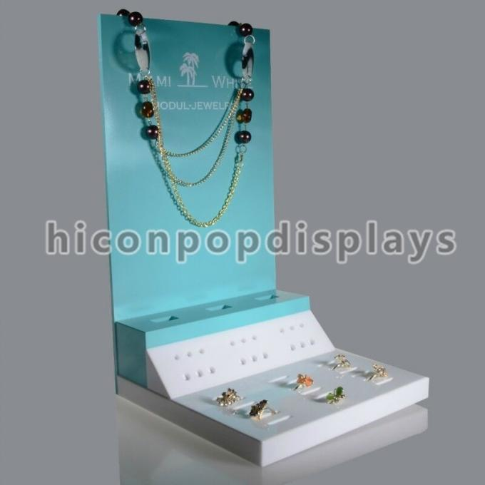 Counter Necklace Acrylic Jewelry Holder Retail Merchandising Fixtures
