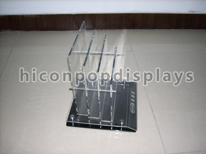Brochure / Leaflet 4mm Acrylic Display Case Trade Show Brochure Stands Table Top