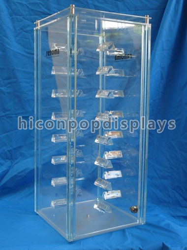 Tobacco Custom Acrylic Display Case Transparent Waterproof OEM Service
