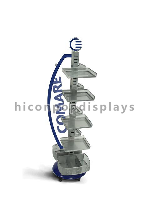 Turntable Gridwall Retail Spinner Displays / Gridwall Spinner Display