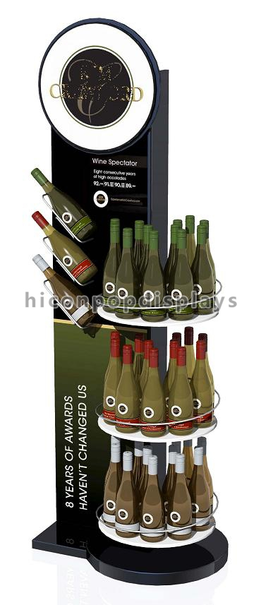 Flooring Wine Display Stand 3 Tier Display Racks For Retail Stores