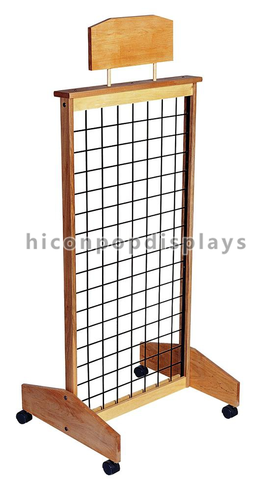 Wooden Display Stand ~ Retail store wooden display racks leather belt stand