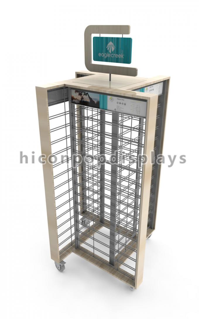 Gridwall Flooring Display Stands Travel Outfitter Promotion Display