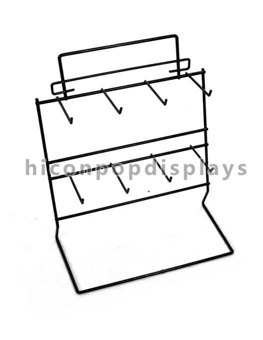 Wire Counter Display Racks / Hanging Display Shelf Powder Coated