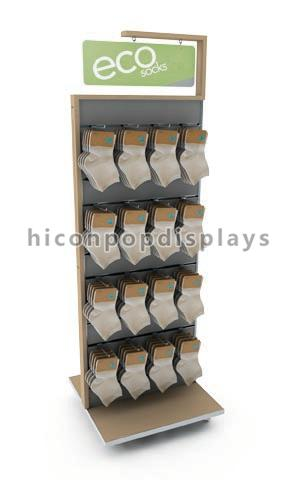 Freestanding Slatwall Display Stands Double Sides For Smartwool Socks