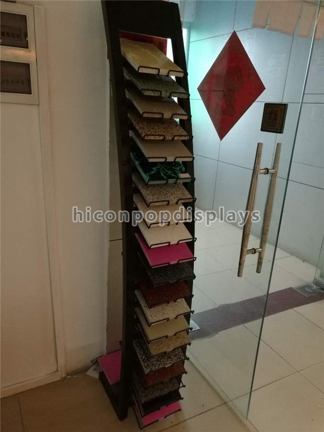 Black Metal Tile Display Racks Free Standing Trade