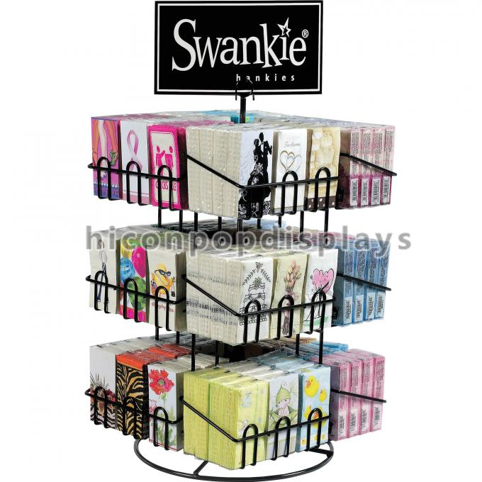 Retail Metal Spinner Display Rack Countertop Spinning Book For Postcard