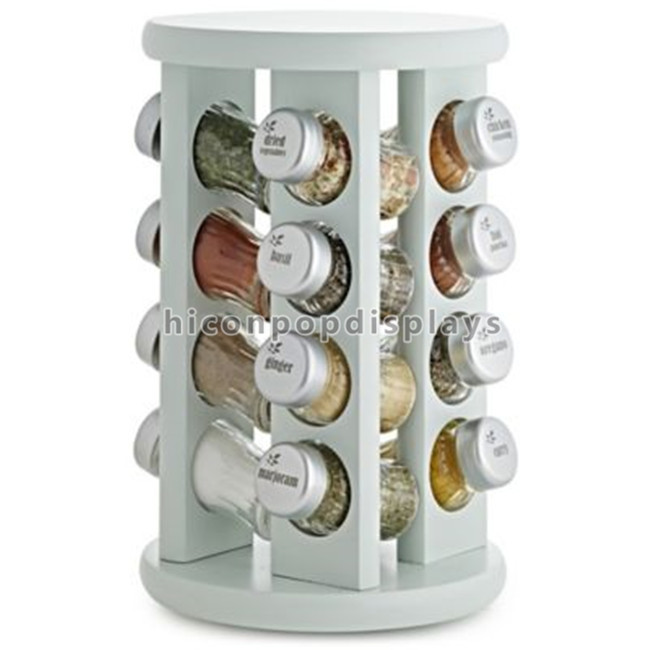 Custom Spinner Rack Display Stand Metal 2 Layer Black Jar Display Rack Rotating