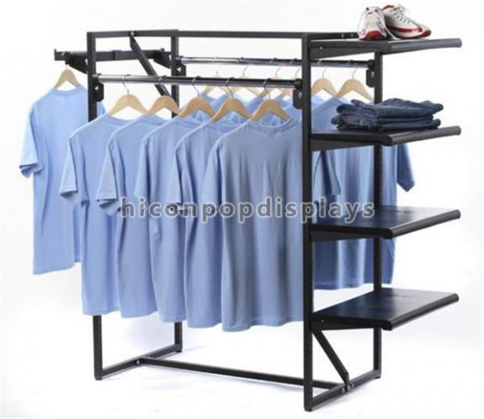 Garment Retail Store Fixtures 4 Way Metal Hanging
