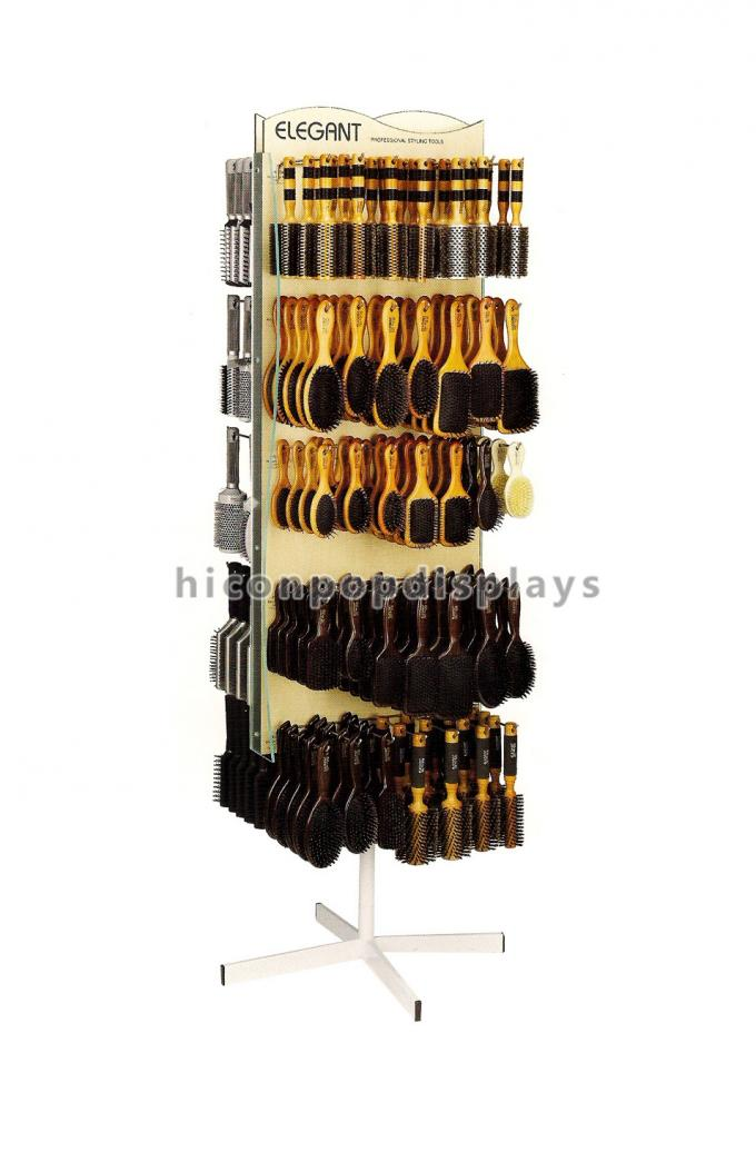 Metal Wire Accessories Display Stand With 6 Pockets / Powder Coating Surface