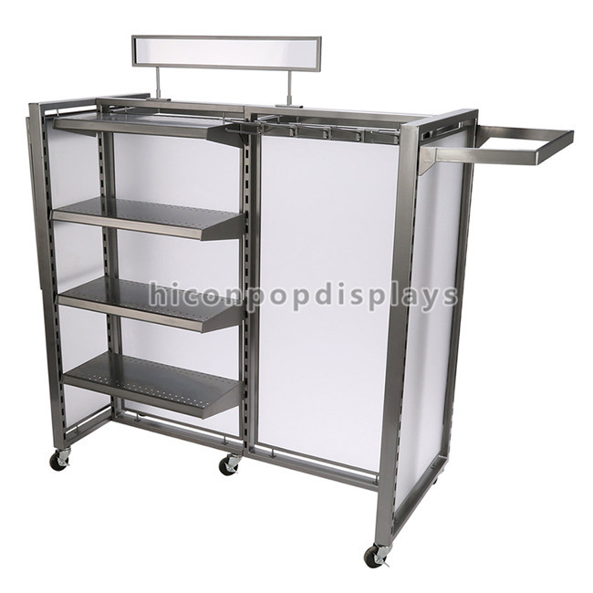 Women Clothing Store Fixtures Freestanding Retail Clothing Display Rack Customized