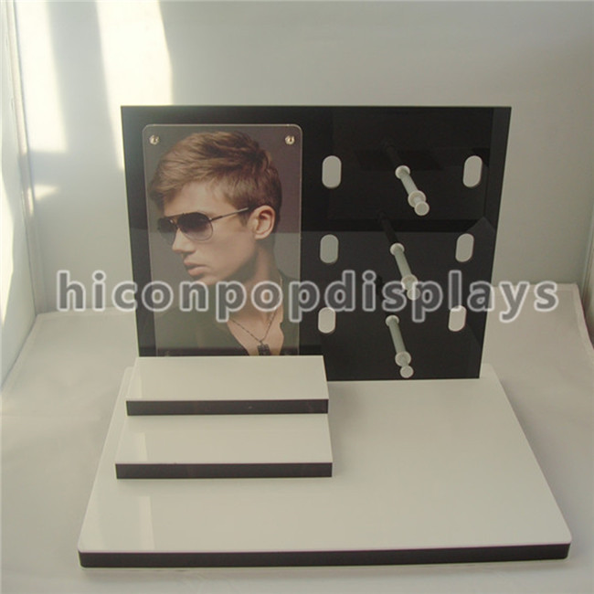 Eyewear Shop Counter Display Stand 3 Layer Boss Sunglass Display For Promotion