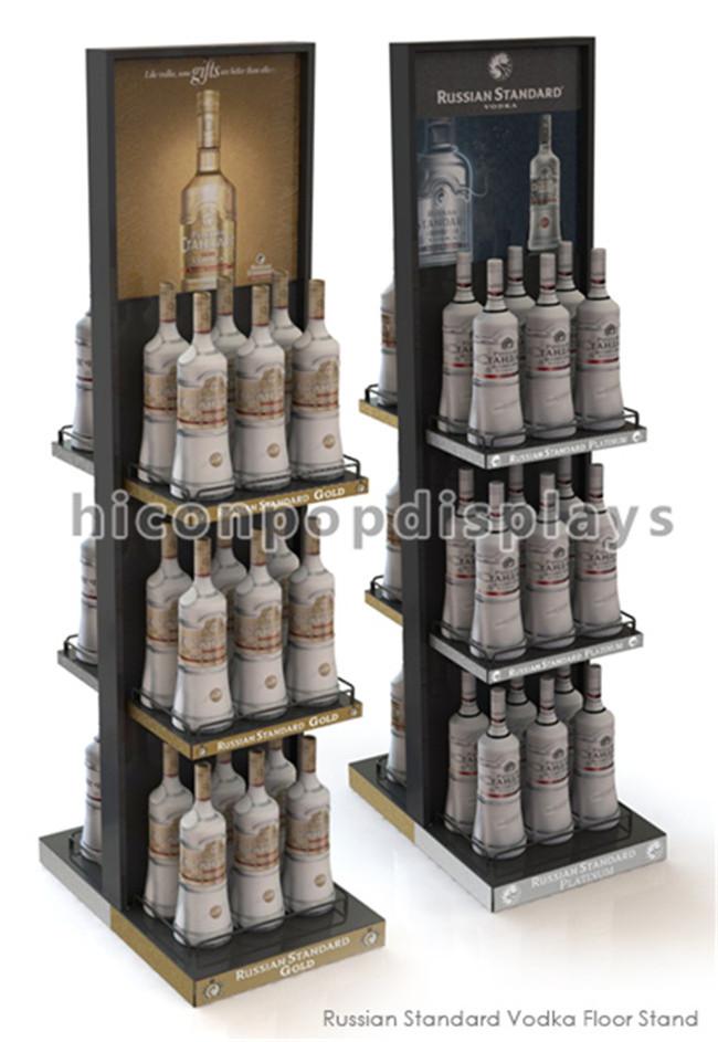 24 Bottle Wine Display Tower / Retail Shop Metal Wire