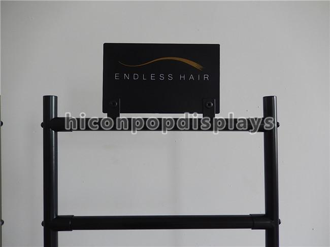 Salon Hair Extension Retail Store Displays Metal Beauty Supply Store Display Shelf