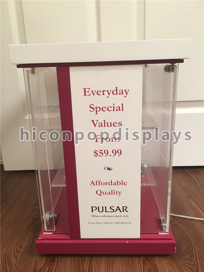 Countertop Spinner Display Rack, Acrylic Jewelry Display Design For Fashion Retail Shop