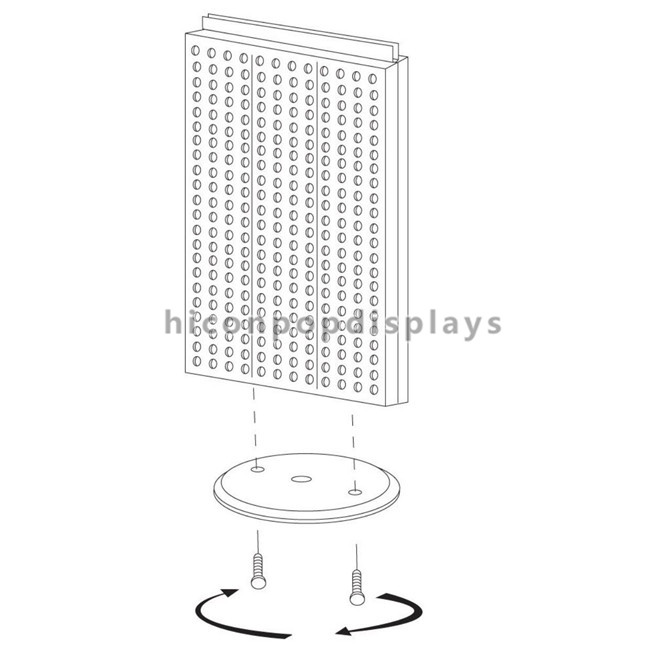 Black Spinner Display Rack 2-Way Pegboard Table Top Display With Detachable Hooks