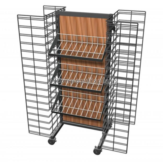 2-Layer Stationery Metal Display Racks Powder Coated For Shops / Supermarkets