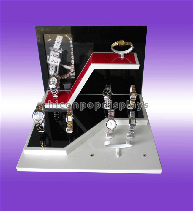 Polished Counter Display Racks 30 Pieces Of Clear Acrylic Bracelet Watch Display Showcase