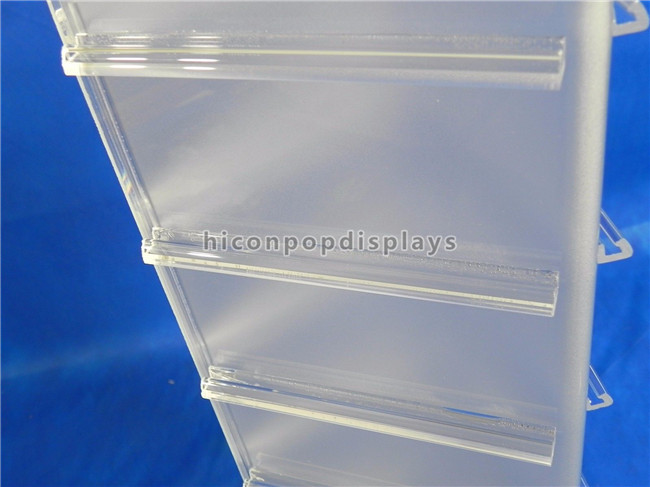19'' Tall Countertop Spinner Rack Display Stand Custom Acrylic Triangular Display Stand